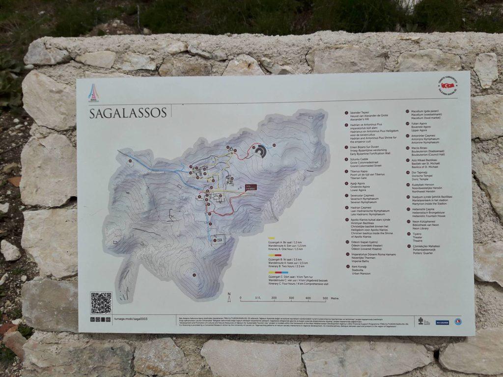 Карта античного города Сагалассос
